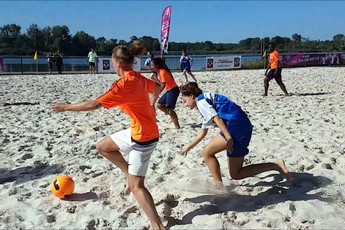 Un terrain de beach soccer permanent à disposition de tous